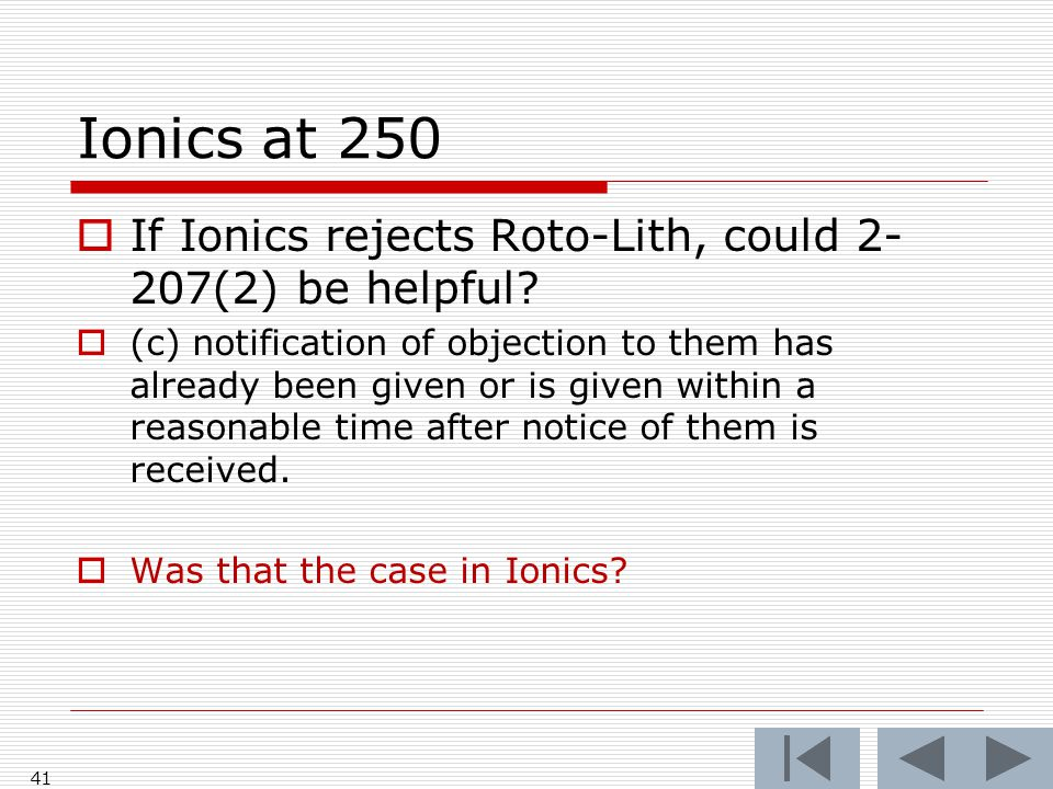 Ionics at 250 41  If Ionics rejects Roto-Lith, could 2- 207(2) be helpful.