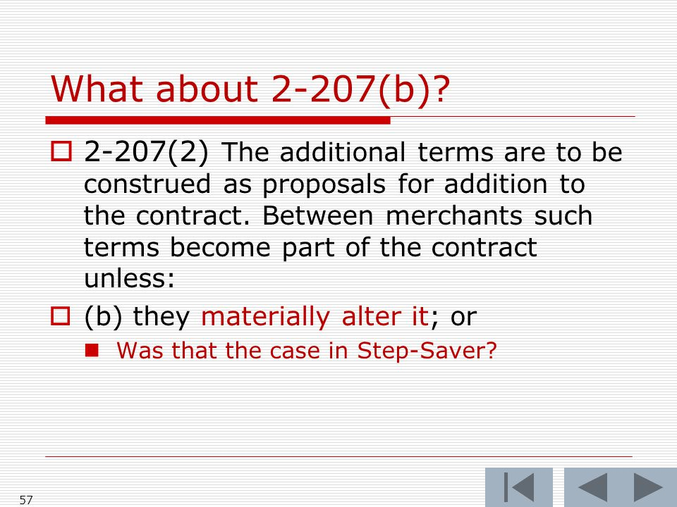 What about 2-207(b).
