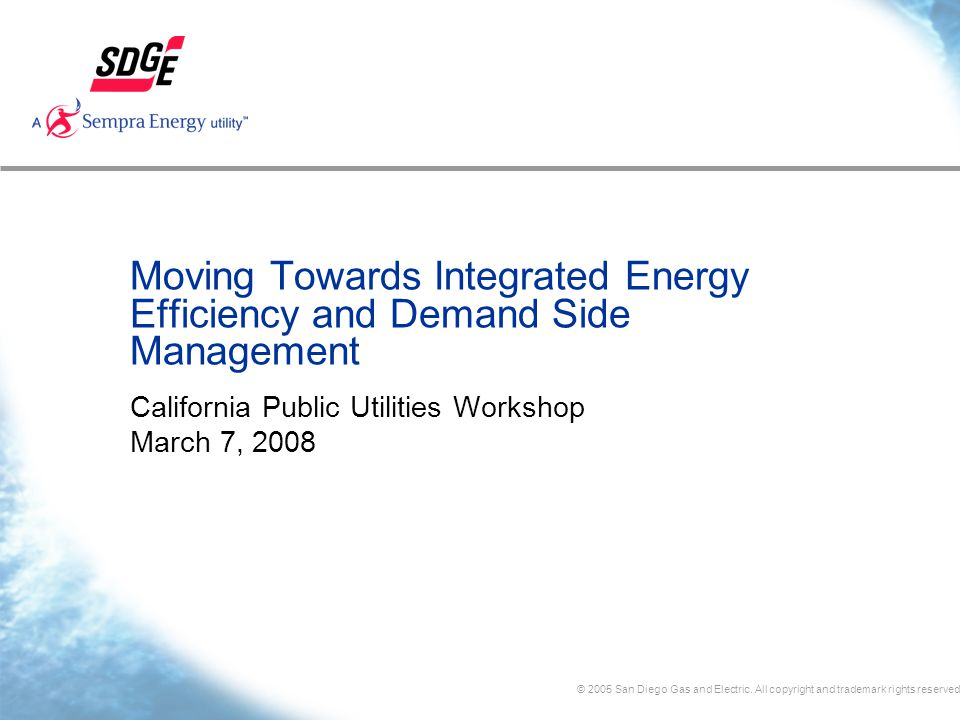 © 2005 San Diego Gas and Electric.