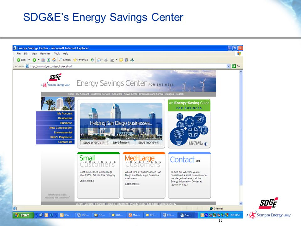 11 SDG&E's Energy Savings Center