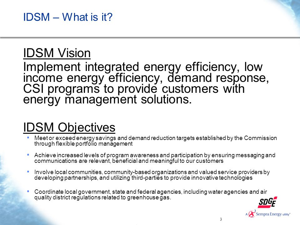 3 IDSM – What is it.