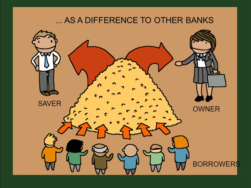 SAVER... AS A DIFFERENCE TO OTHER BANKS OWNER BORROWERS