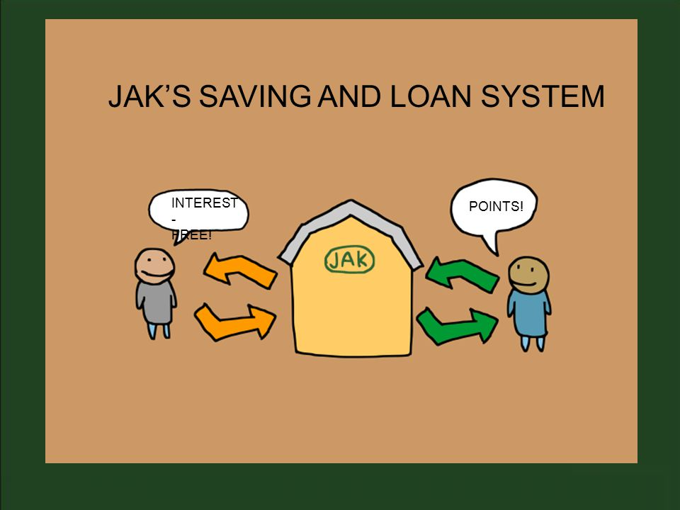 JAK'S SAVING AND LOAN SYSTEM POINTS! INTEREST - FREE!