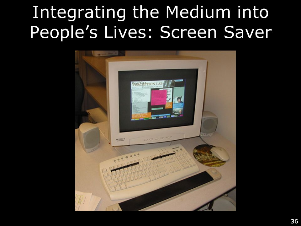 36 Integrating the Medium into People's Lives: Screen Saver