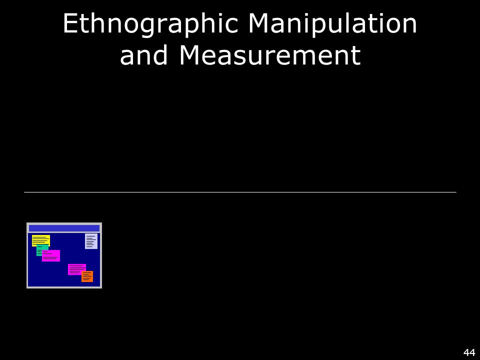44 Ethnographic Manipulation and Measurement