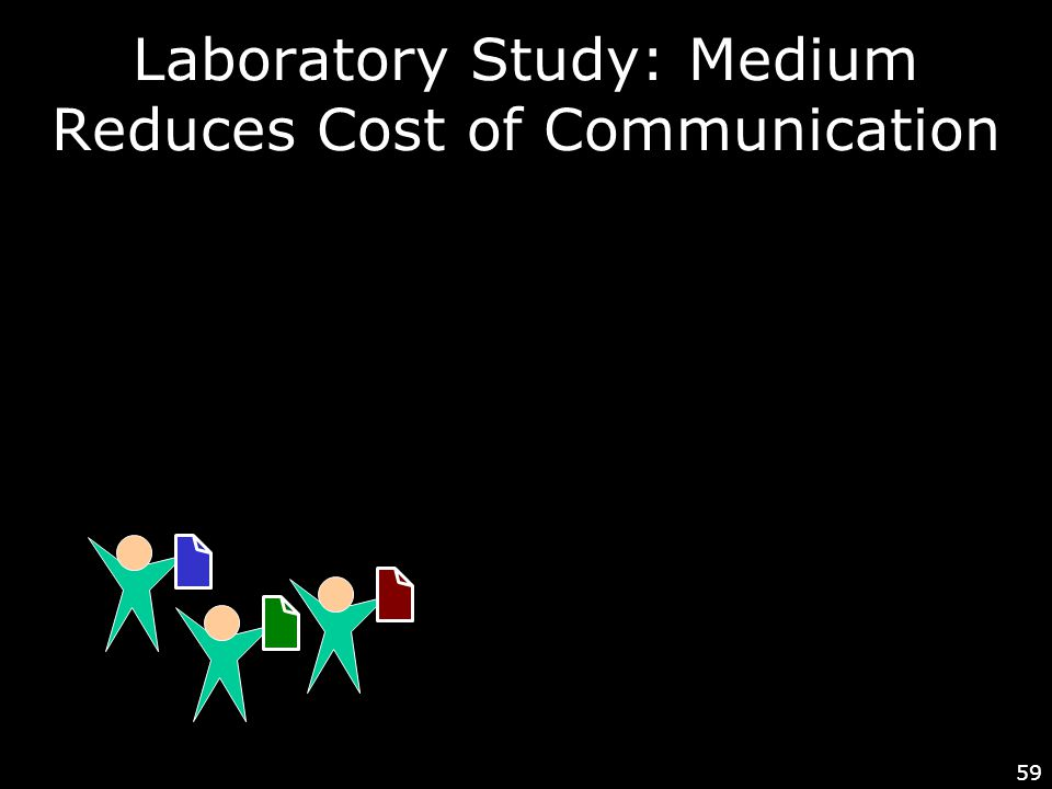 59 Laboratory Study: Medium Reduces Cost of Communication
