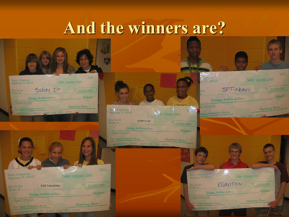 And the winners are?