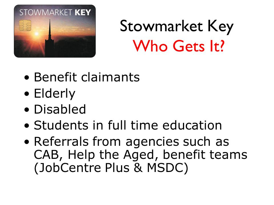 Stowmarket Key Who Gets It.