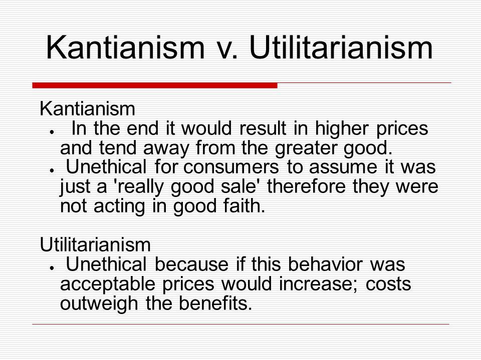 Kantianism v.