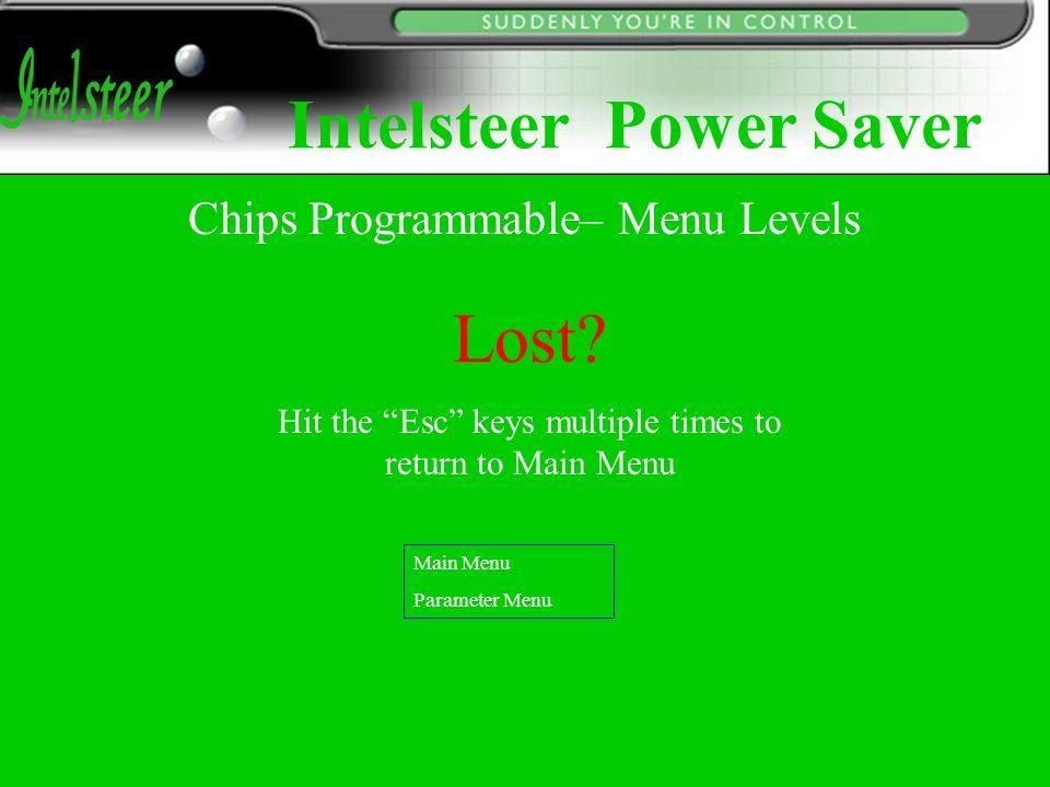 Main Menu Parameter Menu Main Menu Programmer Options Main Menu Download Parameters Main Menu Upload Parameters Copy Menu Download parameters Download the parameters to programmable chips' memory.