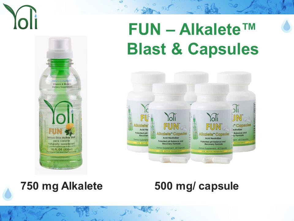750 mg Alkalete FUN – Alkalete™ Blast & Capsules 500 mg/ capsule