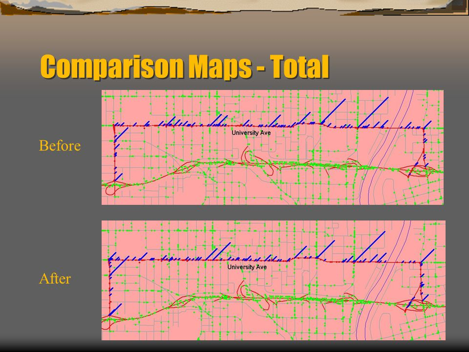 Comparison Maps - Total Before After