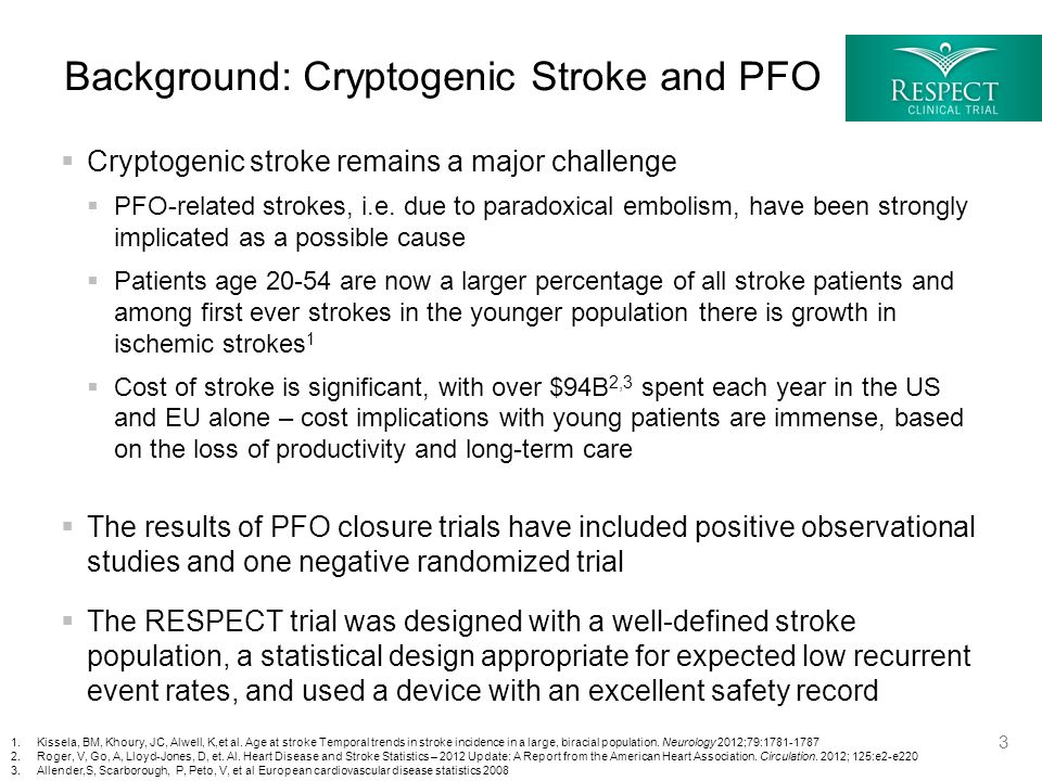  Cryptogenic stroke remains a major challenge  PFO-related strokes, i.e.