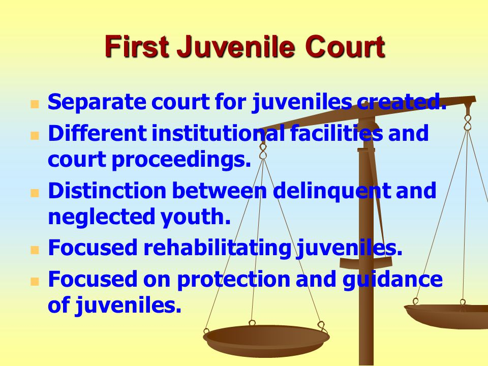 First Juvenile Court Separate court for juveniles created.