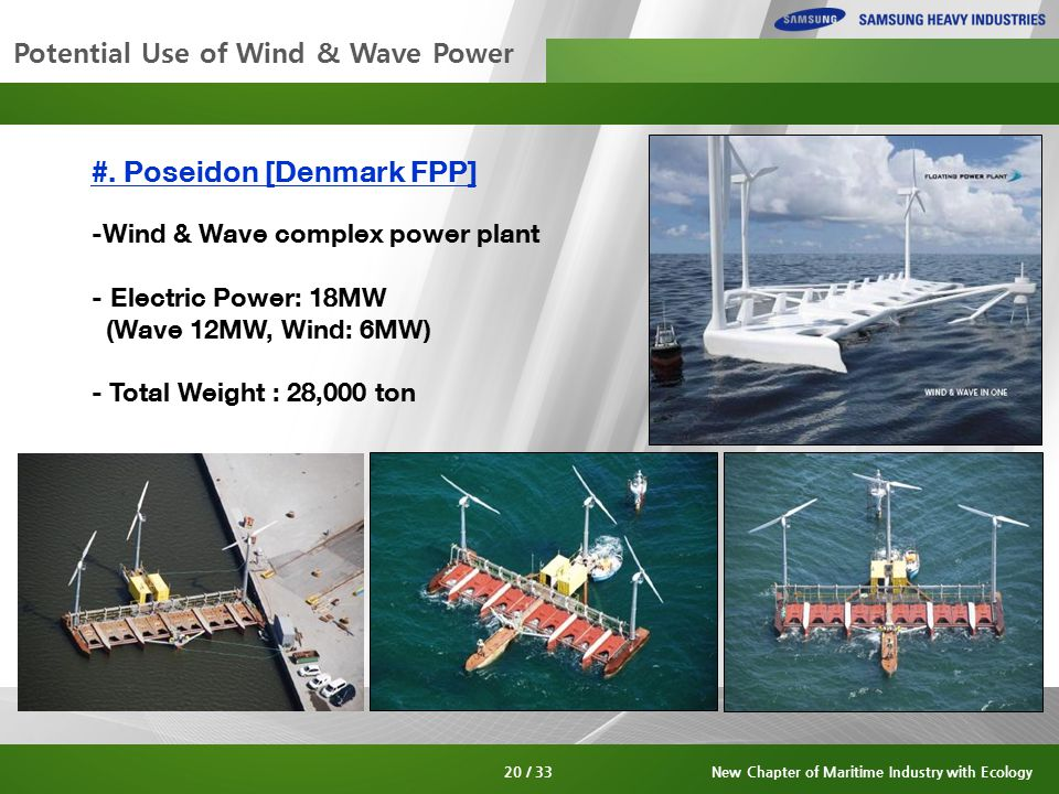 Potential Use of Wind & Wave Power #.