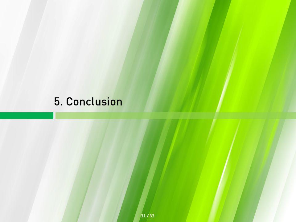5. Conclusion 31 / 33