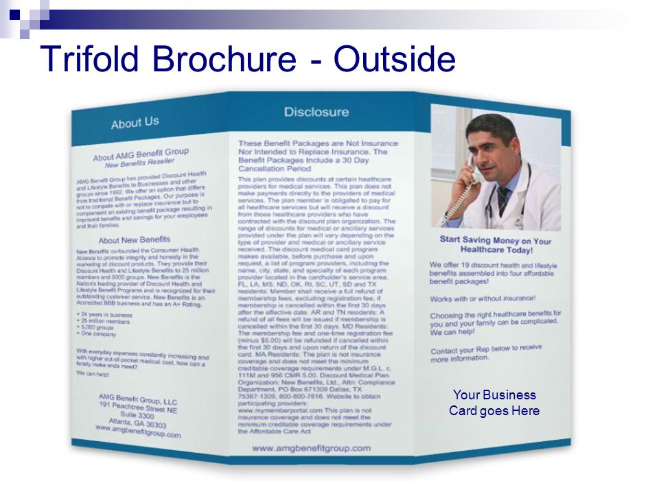 Trifold Brochure - Outside Your Business Card goes Here