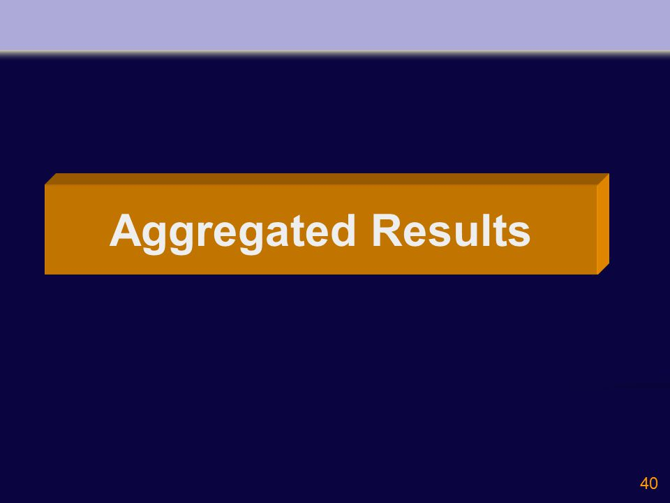 40 Aggregated Results