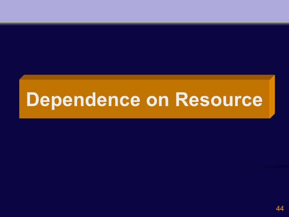 44 Dependence on Resource