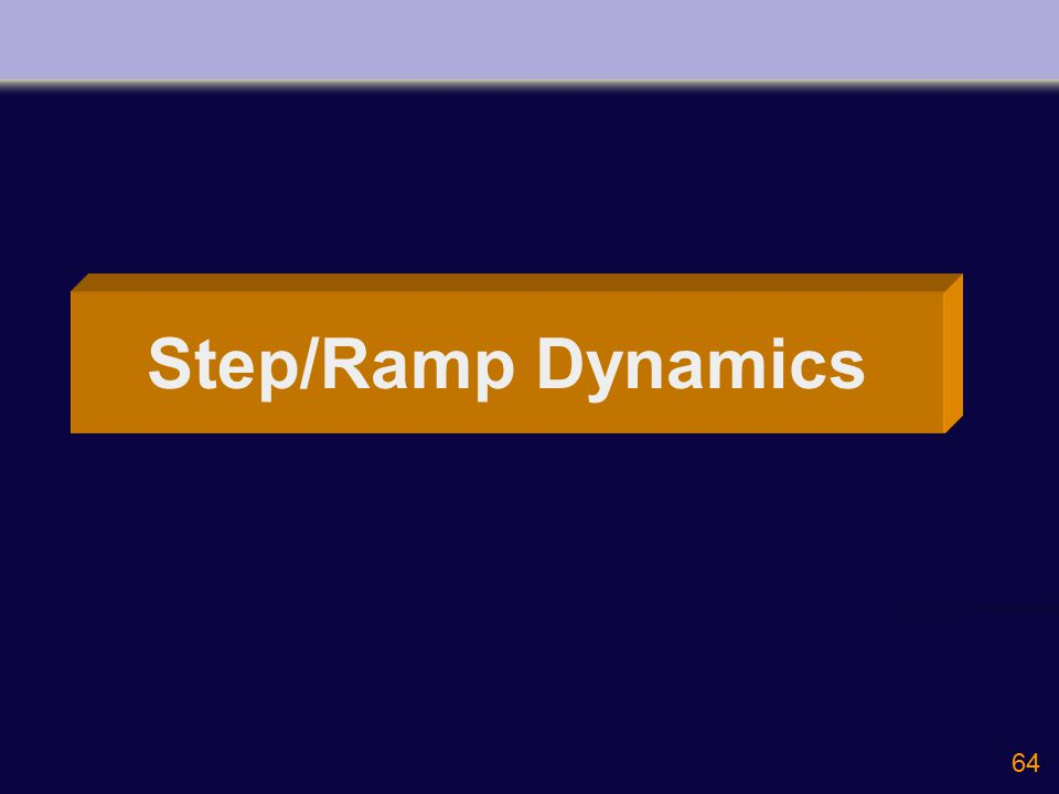 64 Step/Ramp Dynamics