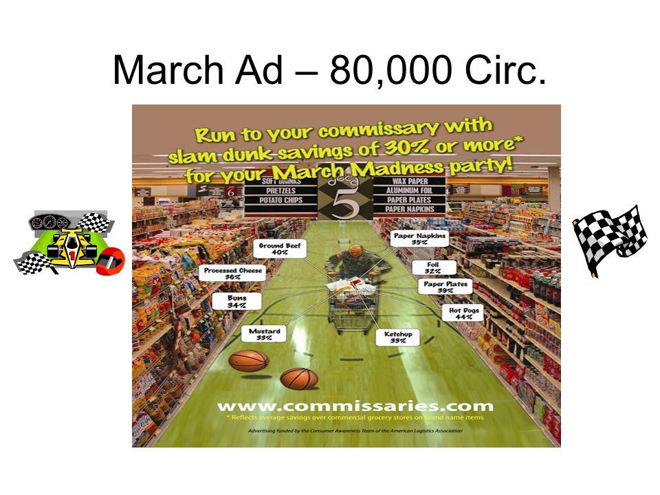 March Ad – 80,000 Circ.