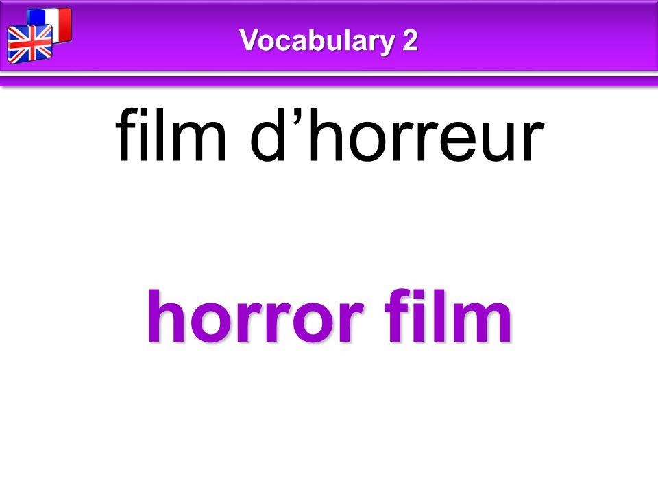 horror film film d'horreur Vocabulary 2