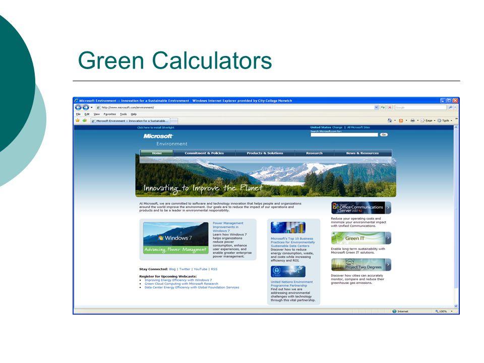 Green Calculators