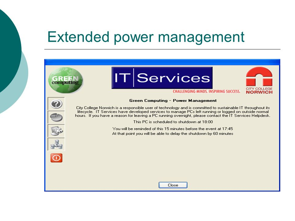 Extended power management