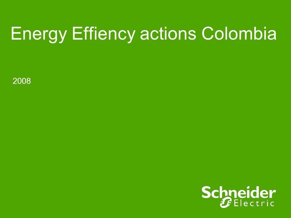 2008 Energy Effiency actions Colombia