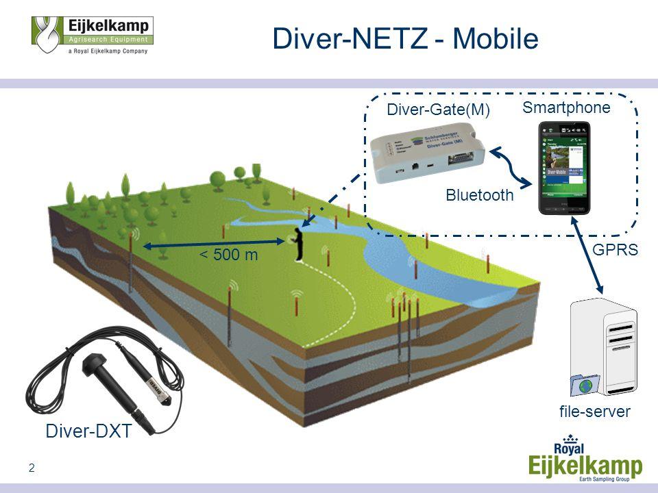 2 Diver-NETZ - Mobile Diver-DXT < 500 m Bluetooth Smartphone file-server GPRS Diver-Gate(M)