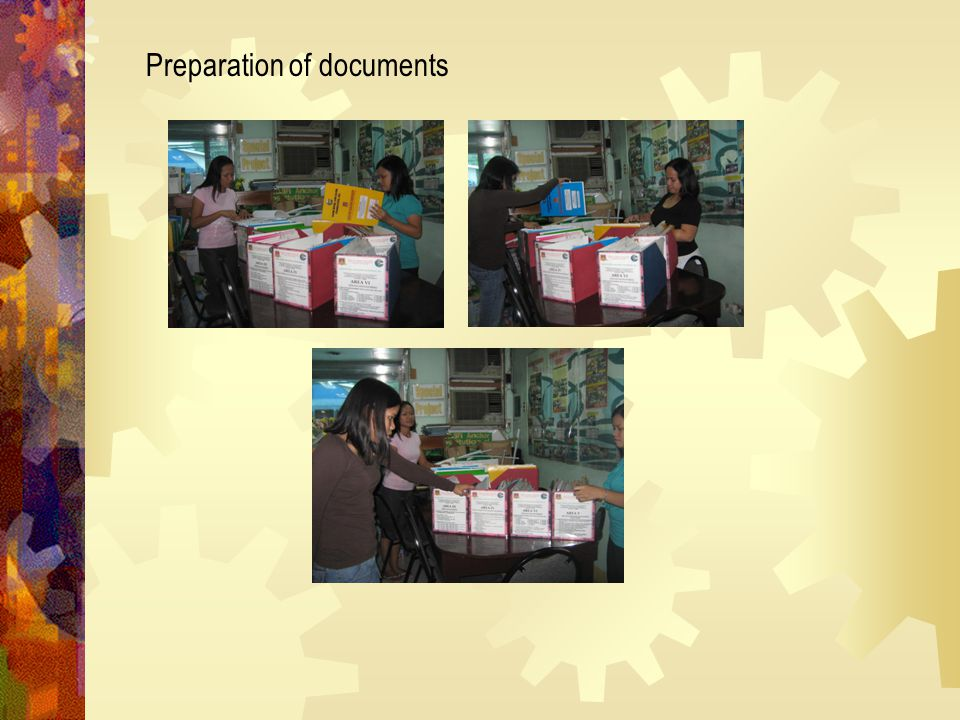 Preparation of documents