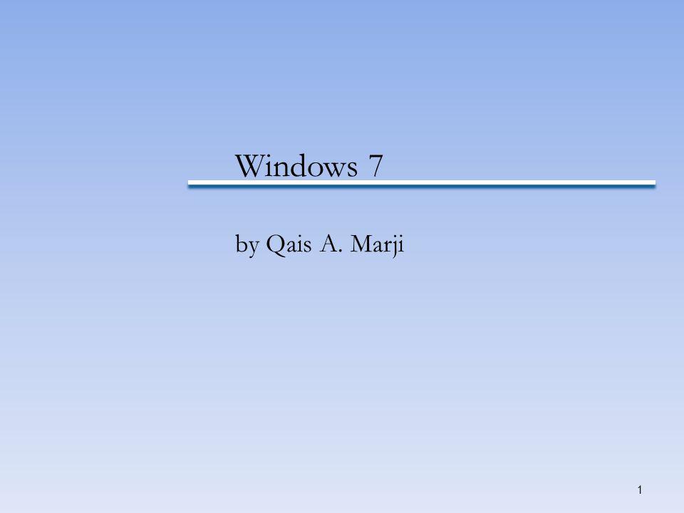 1 Windows 7 by Qais A. Marji