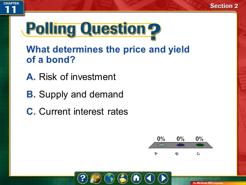 A.A B.B C.C Section 2 What determines the price and yield of a bond.