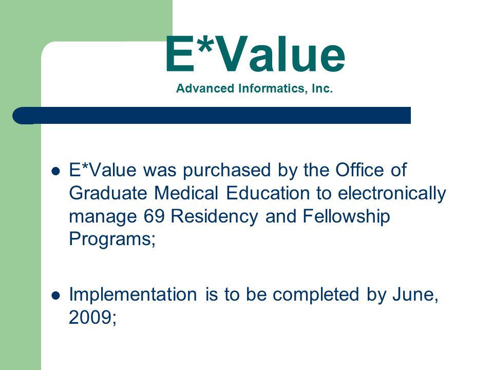 E*Value Advanced Informatics, Inc.