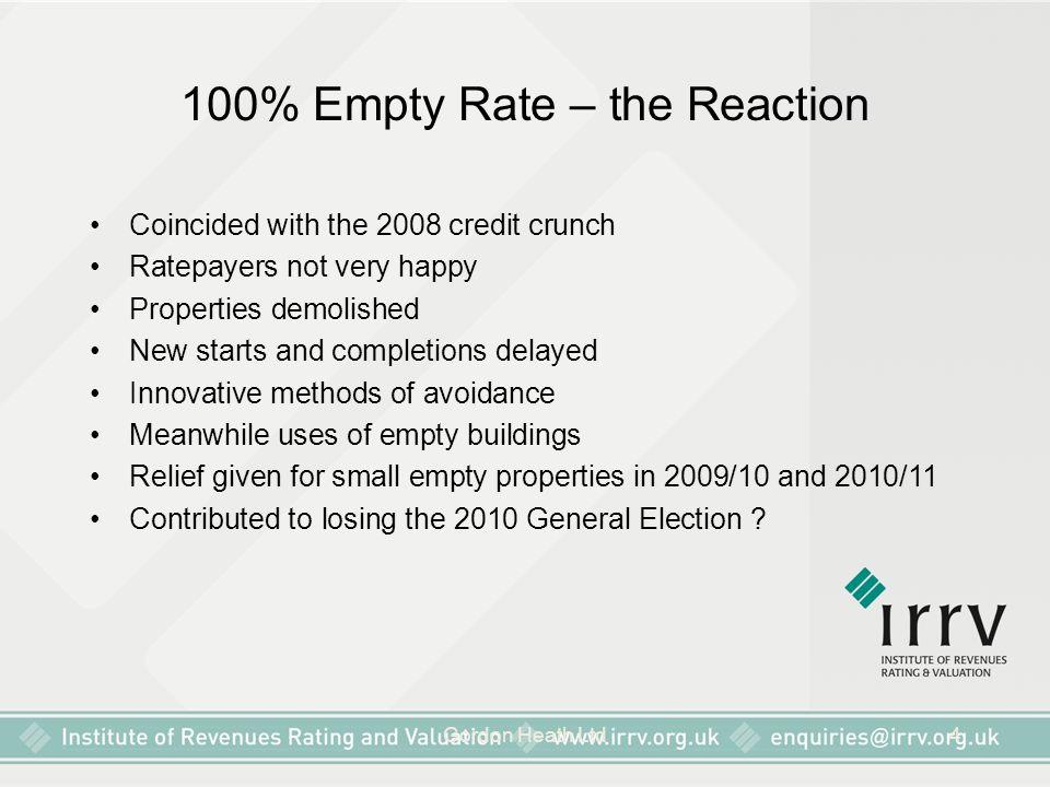 Gordon Heath Ltd5 Purpose of 100% Empty Rate.