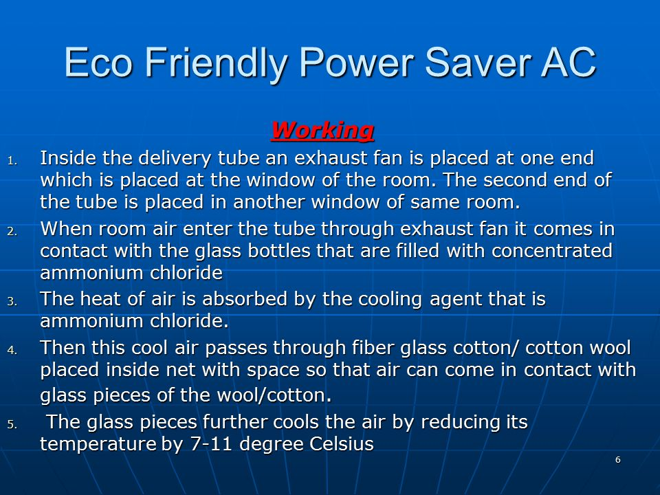 Eco Friendly Power Saver AC Working 1.