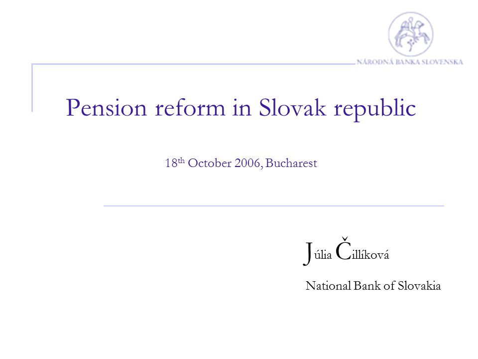 2 Contents Historical reasons for pension reform Legal framework Key principles of new pension system Some figures from 2nd pillar, fees and guarantees Some figures from 3th pillar Potential risks to the new pension system
