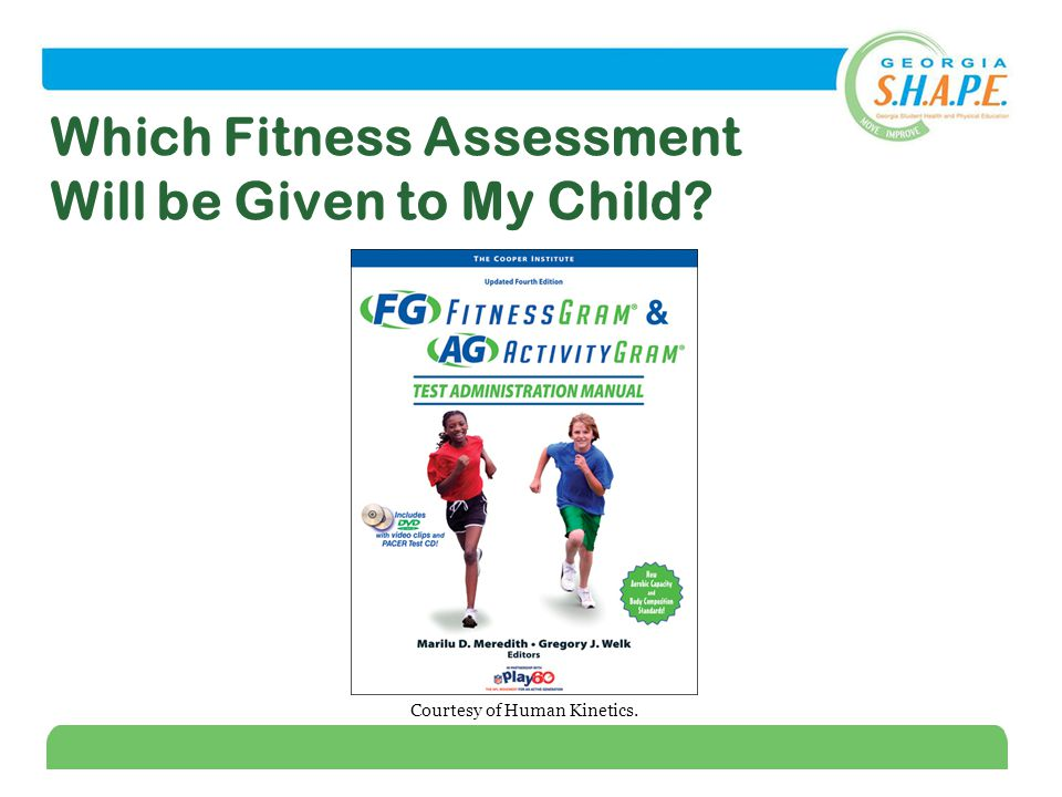 3 Which Fitness Assessment Will be Given to My Child Courtesy of Human Kinetics.