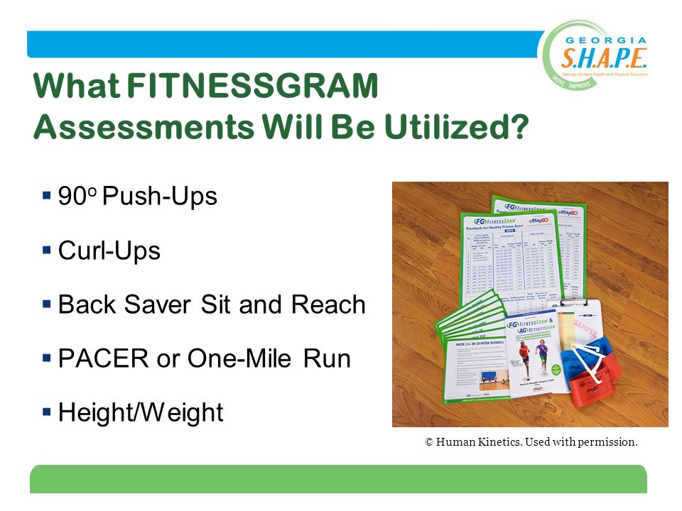 5 What FITNESSGRAM Assessments Will Be Utilized.