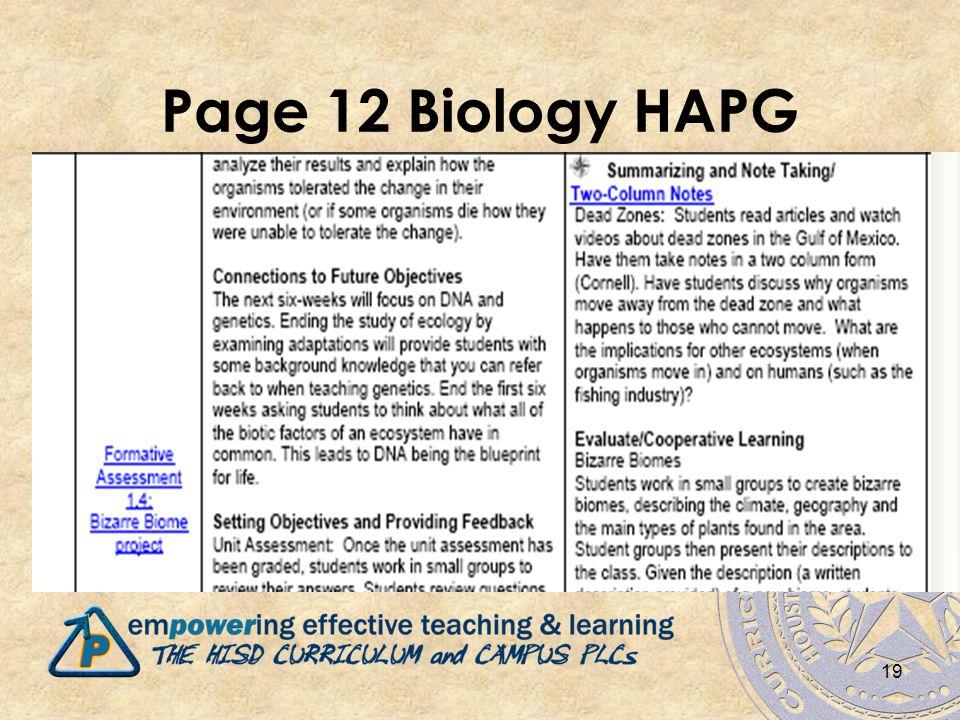 Page 12 Biology HAPG 19