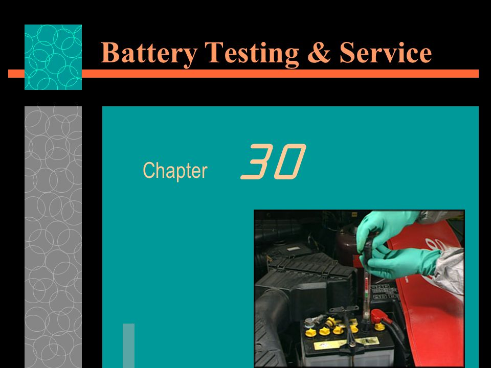 Battery Testing  The density of a liquid can be checked by using a Hydrometer or Specific Gravity Tester.