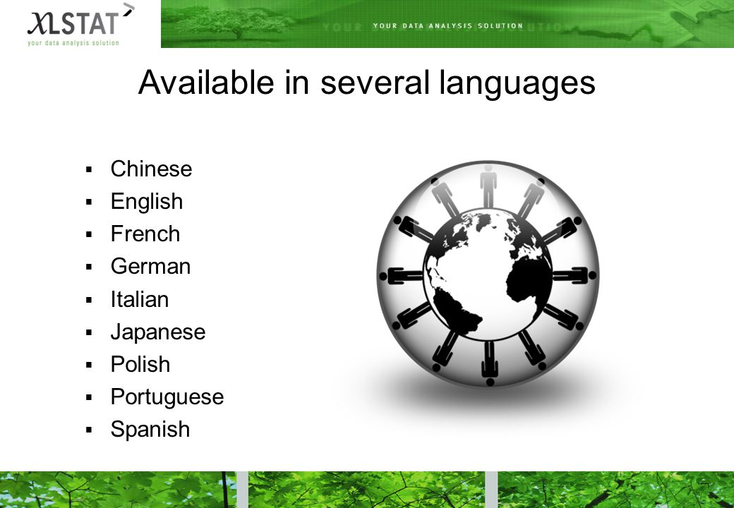 Available in several languages  Chinese  English  French  German  Italian  Japanese  Polish  Portuguese  Spanish