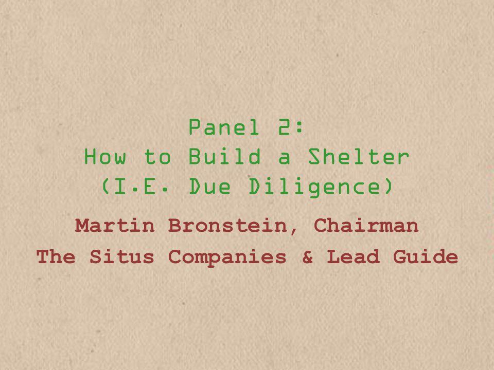 Panel 2: How to Build a Shelter (I.E.