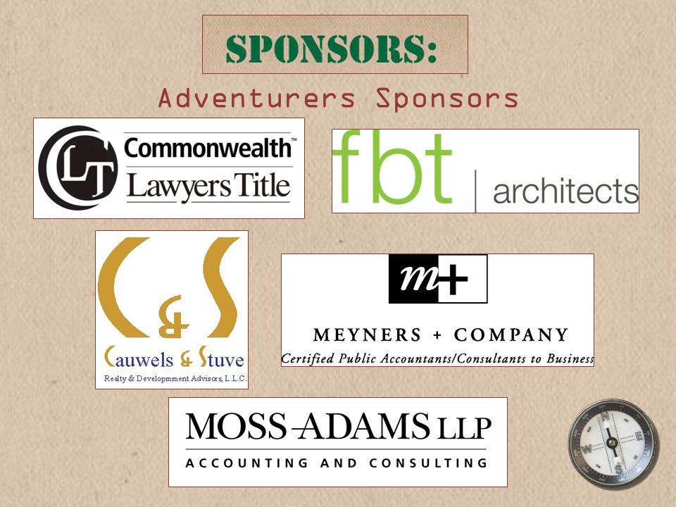 Adventurers Sponsors
