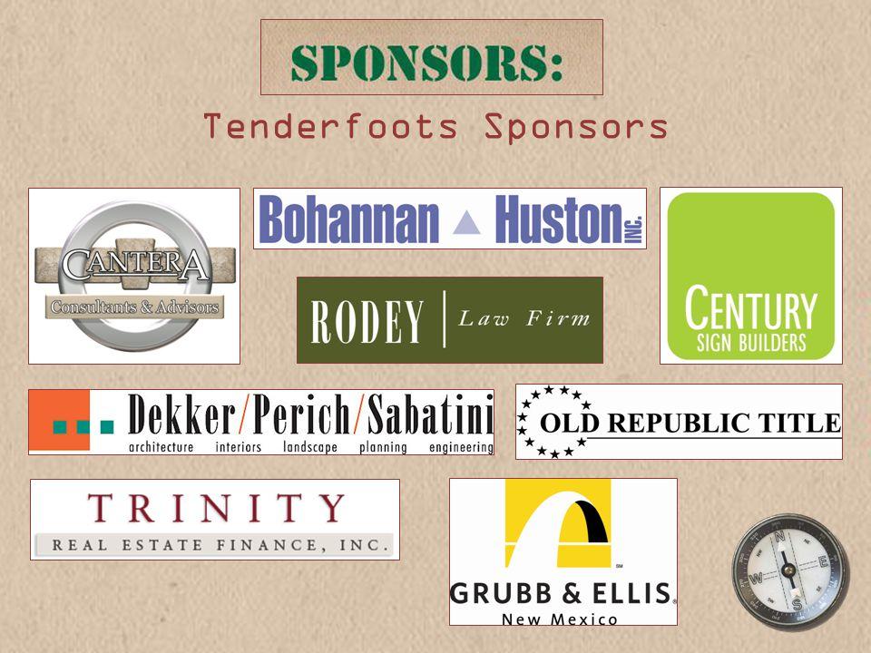 Tenderfoots Sponsors