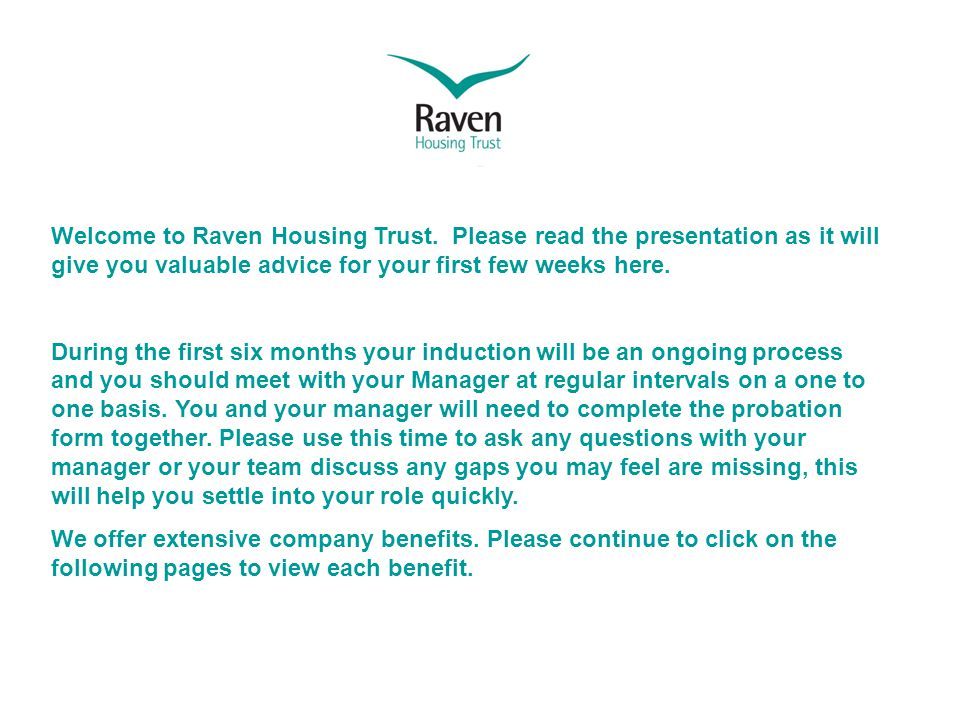 Welcome to Raven Housing Trust.