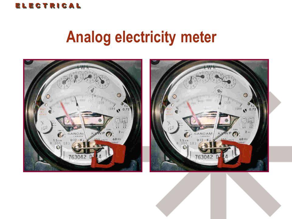 Analog electricity meter E L E C T R I C A L