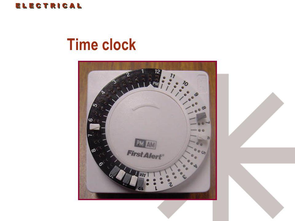 E L E C T R I C A L Time clock