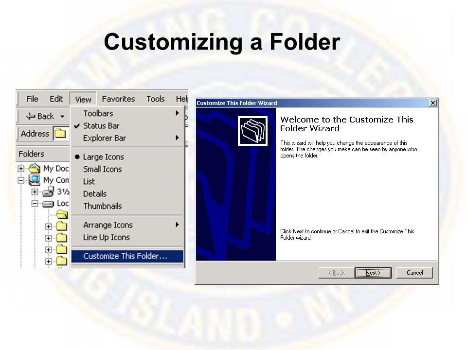 Customizing a Folder