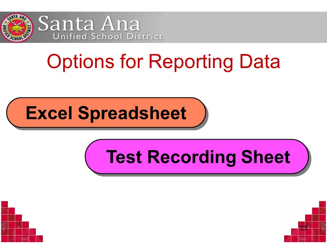 23 Options for Reporting Data Excel Spreadsheet Test Recording Sheet